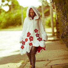 Kabáty - Origo Cardigan kvety&sneh - 8386939_
