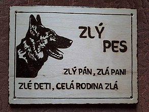 Tabuľky - Pozor pes - 8386535_