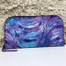 Peňaženky - Modrofialová - zipová peněženka - 8387116_
