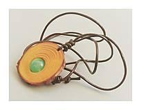 Náhrdelníky - Avanturín v borovicovom pláte - 8388907_