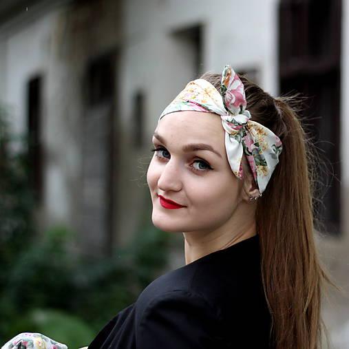 Vintage šatka do vlasov Ruže   Cat.in.the.closet - SAShE.sk ... 209e0e8a97
