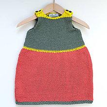 Detské oblečenie - Farebné detské šaty - 8387471_