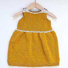 Detské oblečenie - Žlté šaty - 8387475_