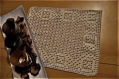 Úžitkový textil - Háčkovaná  dečka maslovej farby - 8388906_