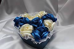 Flower box saténový