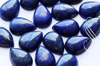 Minerály - Kabošon Lapis Lazuli- minerál 13x18mm/1ks - 8391200_