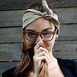Ozdoby do vlasov - Vintage šatka do vlasov Créme - 8391008_