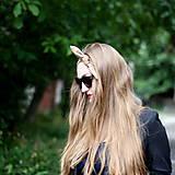 - Vintage šatka do vlasov Cappuccino - 8391036_