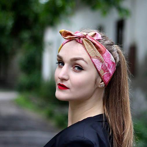 Vintage šatka do vlasov Gloss   Cat.in.the.closet - SAShE.sk ... 4e887e22d6