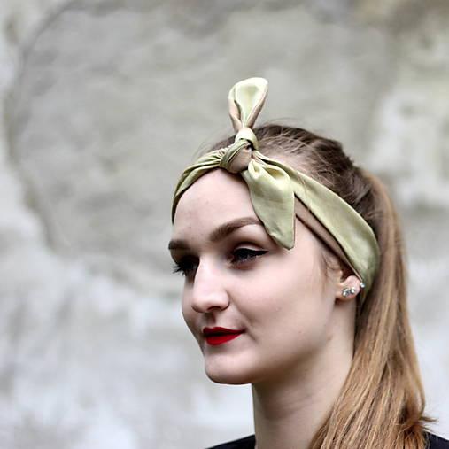 Hodvábna vintage šatka do vlasov Silk   Cat.in.the.closet - SAShE.sk ... 31f66727ed