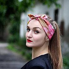 Ozdoby do vlasov - Vintage šatka do vlasov Gloss - 8389314_