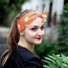 Ozdoby do vlasov - Vintage šatka do vlasov Margarétky - 8390874_