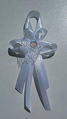 Pierka - Biele pierko pre svadobného otca / starejšieho - 8390595_