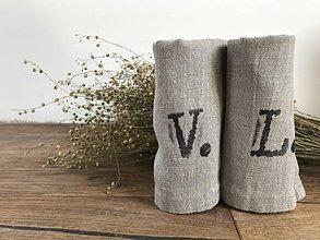Úžitkový textil - Utierka s vlastným monogramom - 8391615_