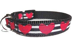 Pre zvieratká - Obojok Hearts - 8389677_