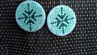 Náušnice - náušnice zelené - 8390515_