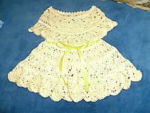Detské oblečenie - Háčkované detské šaty - 8390292_
