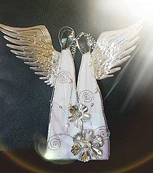 Dekorácie - Dvojica anjelov fialová 02_OB - 8389835_