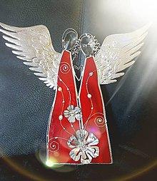 Dekorácie - Dvojica anjelov červená 03_OB - 8389846_