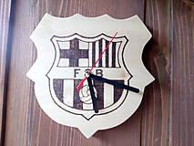 Drevené hodiny FC Barcelona