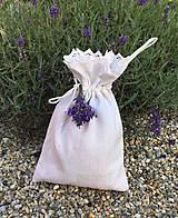 Úžitkový textil - Vrecúško z ľanového plátna na levanduľu - 8390234_