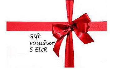 Darčekové poukážky - Darčeková poukážka 5€ - 8394238_