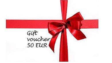 Darčekové poukážky - Darčeková poukážka 50€ - 8394257_