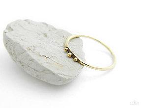 Prstene - 585/14k zlatý decentný prsteň - 8393111_