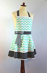 Iné oblečenie - zástera Cik-cak mint - 8394223_