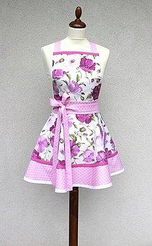Iné oblečenie - zástera Maky ružová - 8393768_
