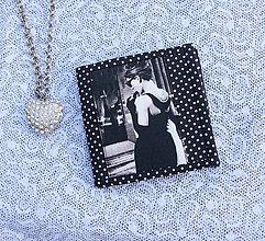 Peňaženky - Čiernobiela...peňaženka - 8393795_