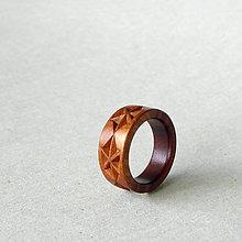 Prstene - Na ľudovú nôtu - drevený prsteň - 8393541_