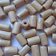 Korálky - Drevený valček 10x6mm-10g (béžová) - 8391669_