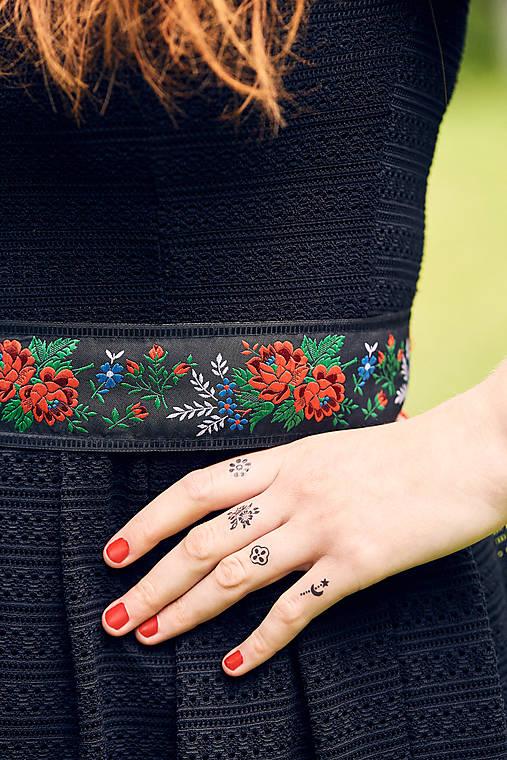 Dočasné tetovačky - Slovakiagift - modrotlačové