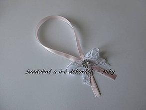 Darčeky pre svadobčanov - Stužky na fľaše - 8392869_