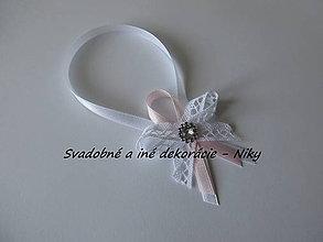 Darčeky pre svadobčanov - Stužky na fľaše - 8392875_