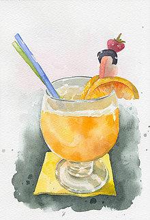 Obrazy - Pomarančový fresh - akvarel - 8394318_