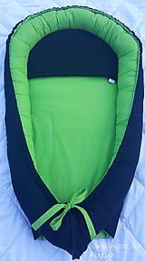 Textil - hniezdo pre bábätko, čierno-zelená kombinácia(100X46 cm) - 8392863_