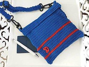 Detské tašky - Modrá taštička s kotvou pre dievčatá - 8393855_
