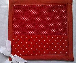 Úžitkový textil - Chňapka jahodová - 8394063_