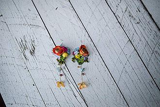 """Náušnice - Pestrofarebné originálne náušnice """"namaľuj mi dúhu"""" - 8392657_"""