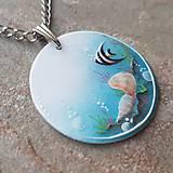 Náhrdelníky - Ručne maľovaný náhrdelník  Summer 2017 - 8394574_