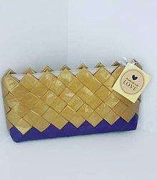 Peňaženky - Gold mini bag - 8392143_