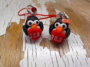 Iné šperky - tučniakovský párik-prívesky s dátumom - 8394539_
