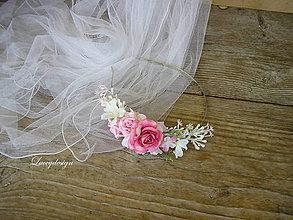 Ozdoby do vlasov - svadobná čelenka..pre družičku - 8393148_