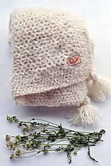 Textil - Detská deka ALPAKA: smotanová - 8397573_