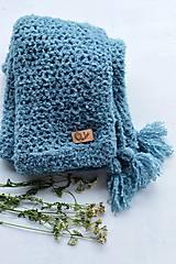 - Detská deka ALPAKA: svetlá modrá - 8397791_