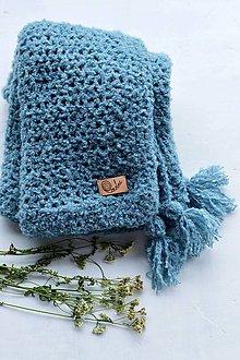 Textil - Detská deka ALPAKA: svetlá modrá - 8397791_