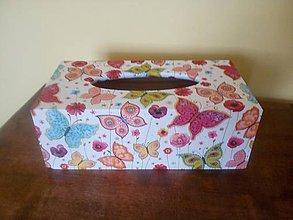 Krabičky - motýle na servítky - 8396913_