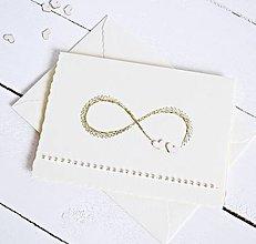 Papiernictvo - Vyšívaný pozdrav svadobný - Nekonečná láska II - 8395067_